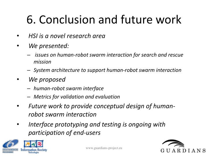 6. Conclusion and future work