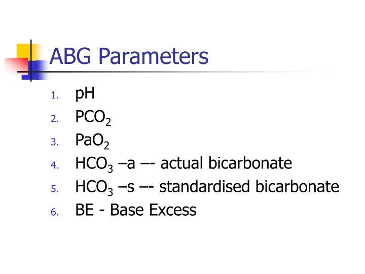 ABG Parameters