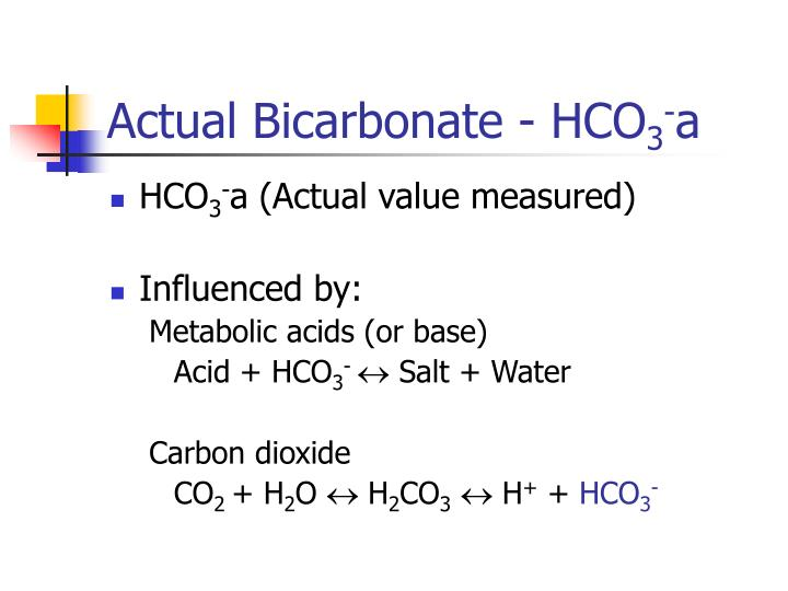 Actual Bicarbonate - HCO