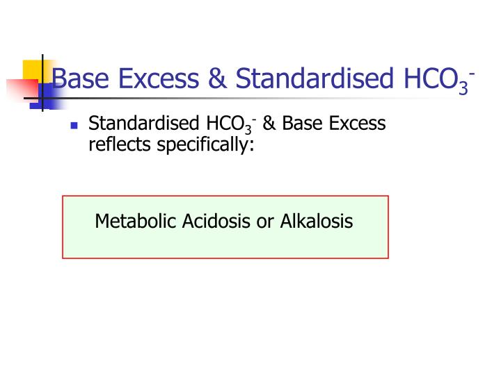 Base Excess & Standardised HCO