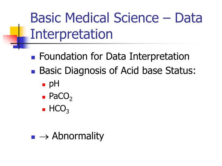 Basic Medical Science – Data Interpretation
