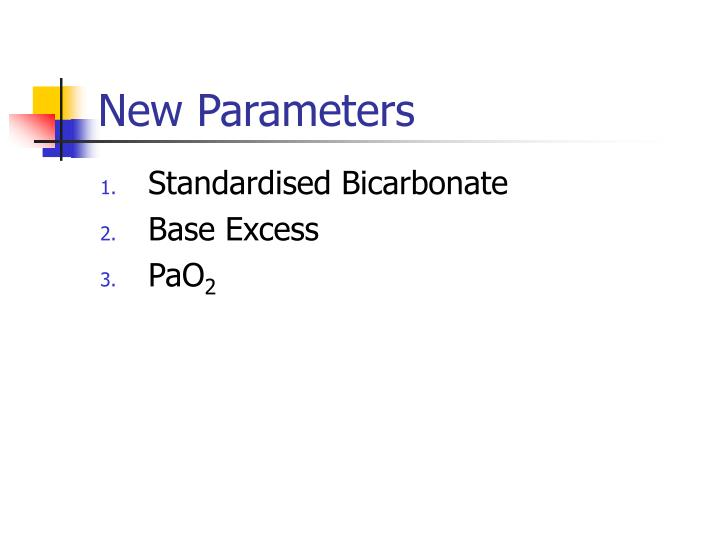 New Parameters