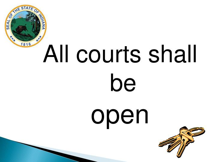 All courts shall be