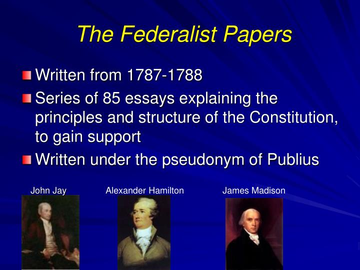 the important concepts of federalist no 10 The federalist papers are important because they convinced the state of new york (and by extension, other states) to ratify the constitution by.