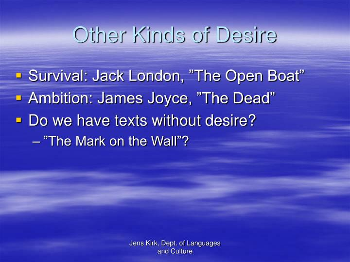 Other Kinds of Desire