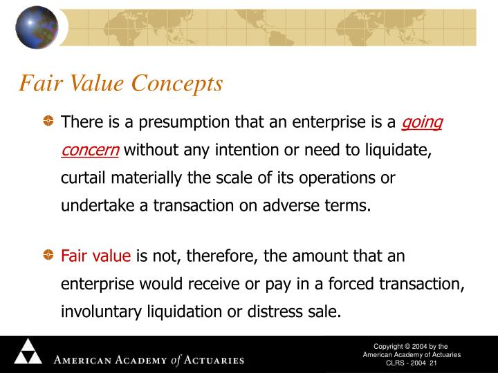 Fair Value Concepts