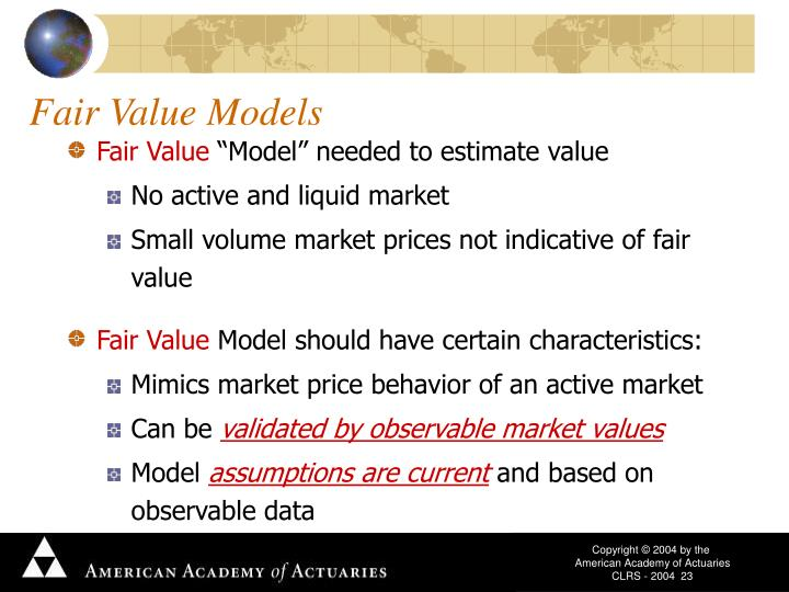 Fair Value Models