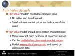 fair value models