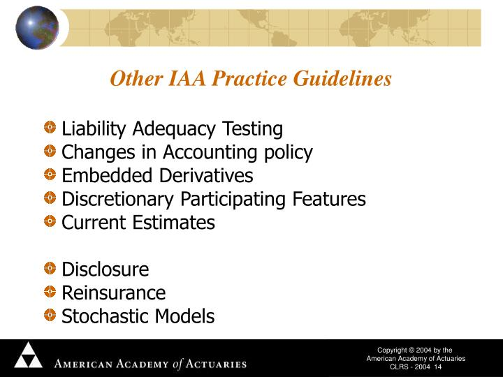 Other IAA Practice Guidelines