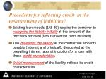 precedents for reflecting credit in the measurement of liabilities