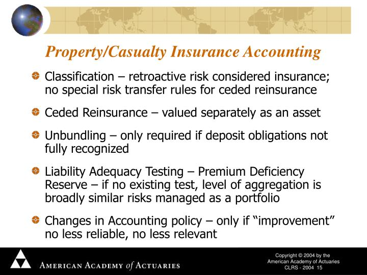 Property/Casualty Insurance Accounting