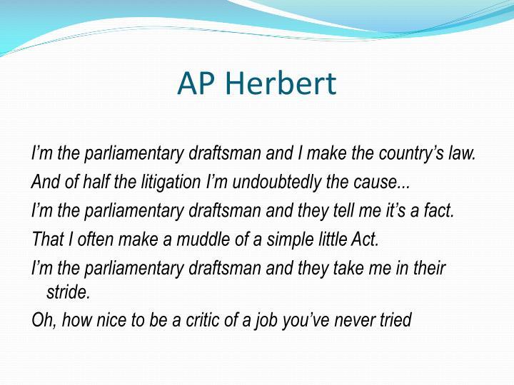 AP Herbert