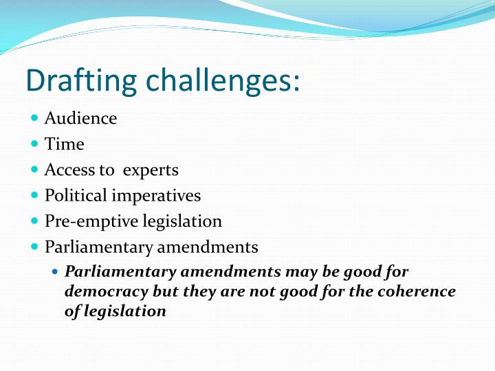 Drafting challenges: