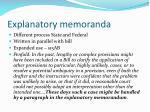 explanatory memoranda
