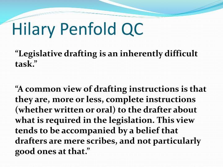 Hilary Penfold QC