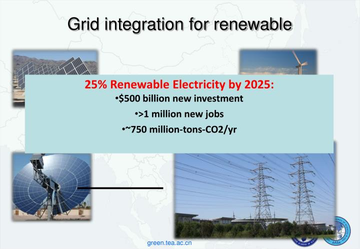 Grid integration for renewable
