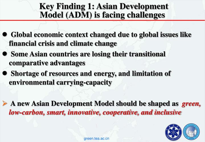 Key Finding 1: Asian Development Model (ADM) is facing challenges