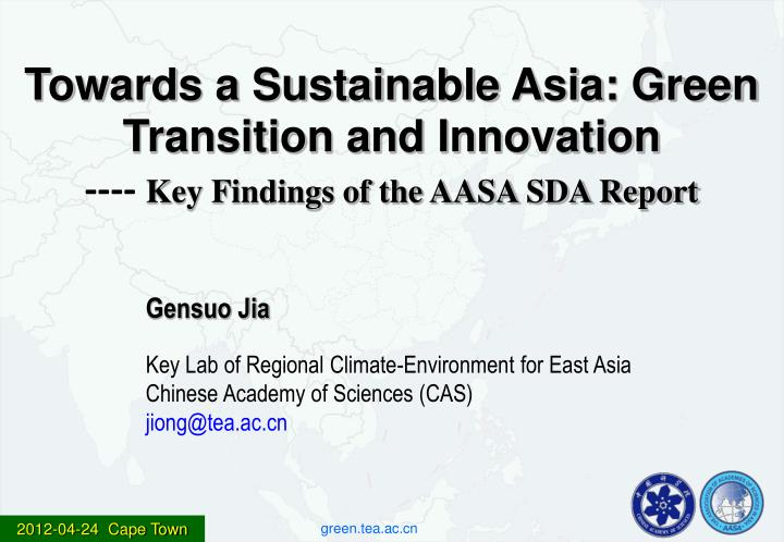 Towards a Sustainable Asia: Green Transition and Innovation