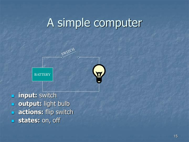 A simple computer