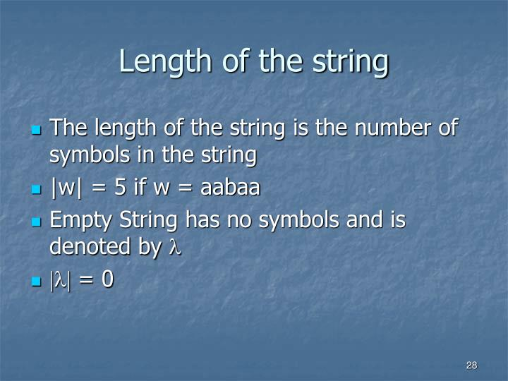 Length of the string