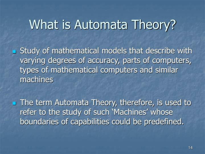 What is Automata Theory?