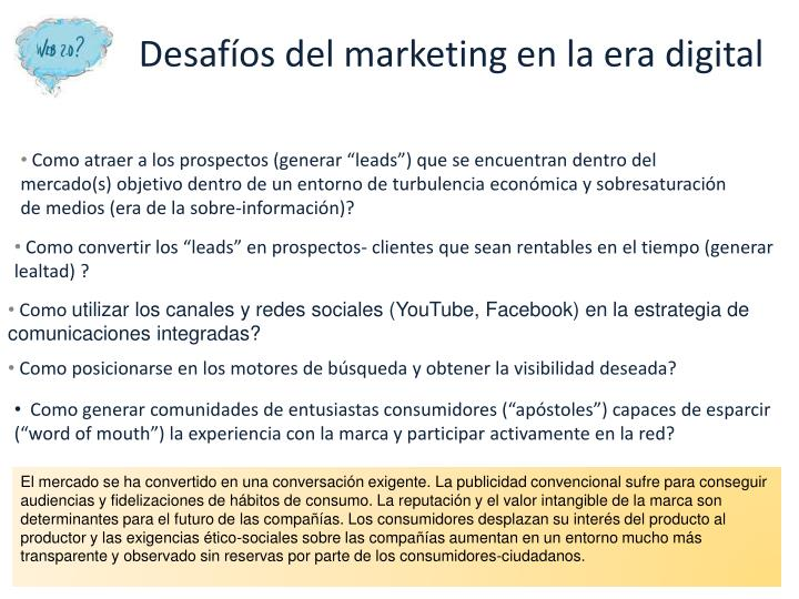 Desafíos del marketing en la era digital