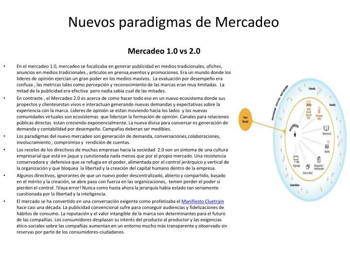 Nuevos paradigmas de Mercadeo