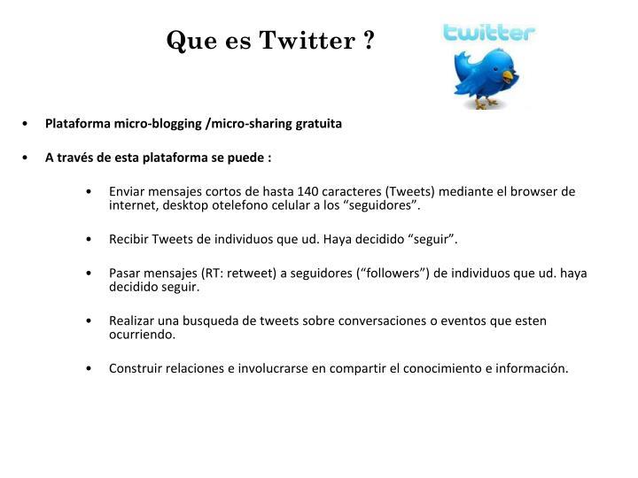 Que es Twitter ?