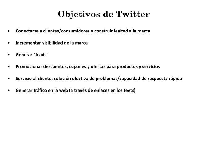 Objetivos de Twitter