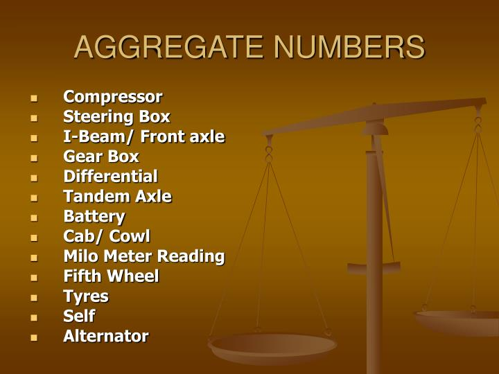 Aggregate numbers1