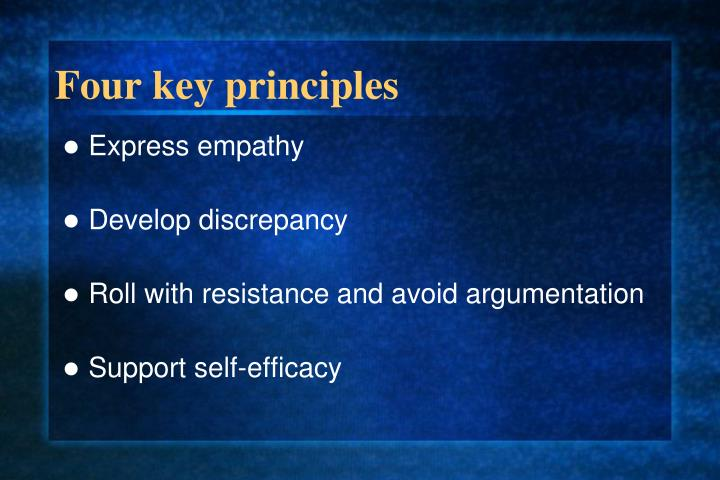 Four key principles