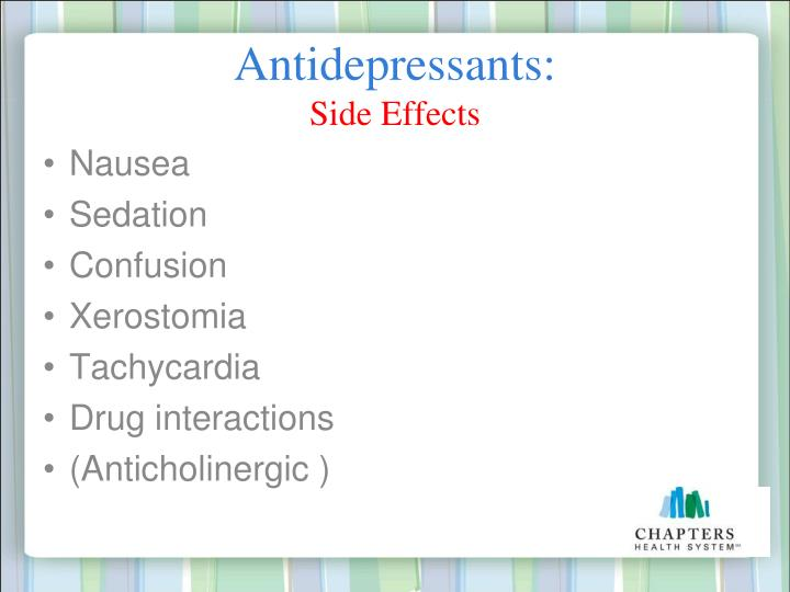 Antidepressants: