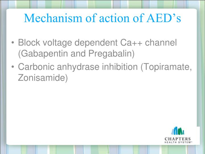 Mechanism of action of AED's