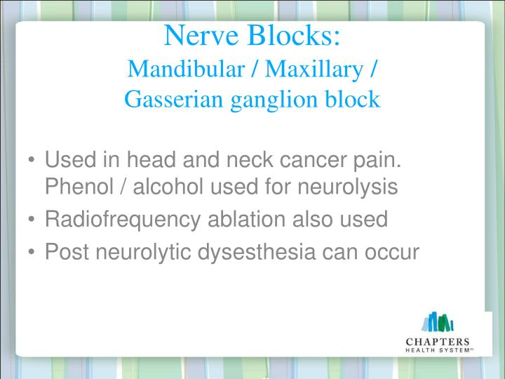 Nerve Blocks: