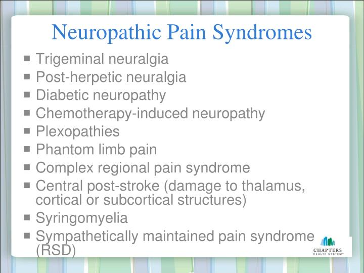 Neuropathic Pain Syndromes