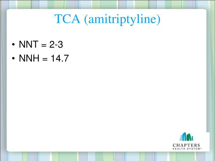 TCA (amitriptyline)