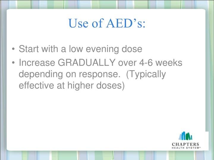 Use of AED's: