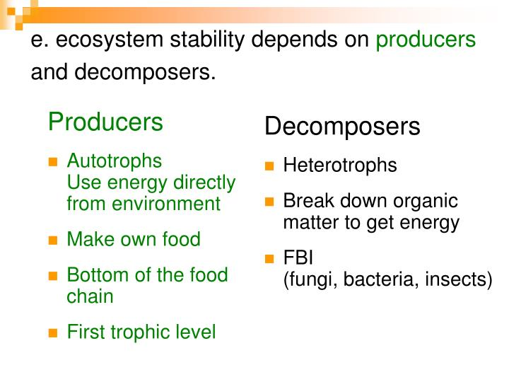 e. ecosystem stability depends on