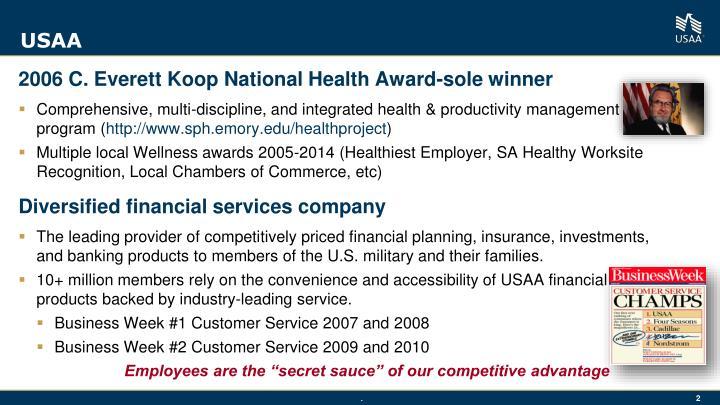 2006 C. Everett Koop National Health Award-sole winner