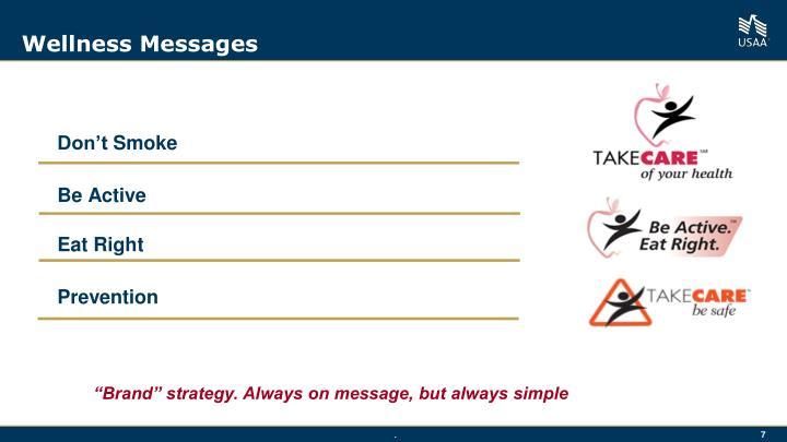 Wellness Messages