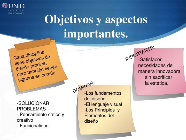 Objetivos y aspectos