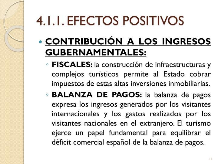 4.1.1. EFECTOS POSITIVOS