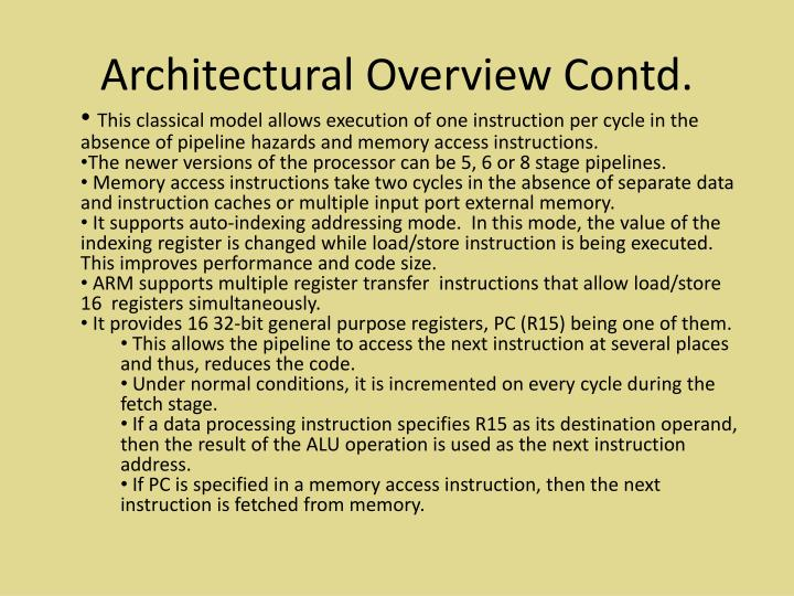 Architectural Overview Contd.