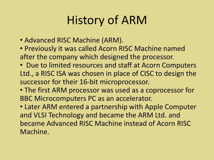 History of ARM