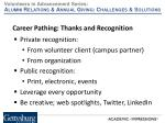 career pathing thanks and recognition