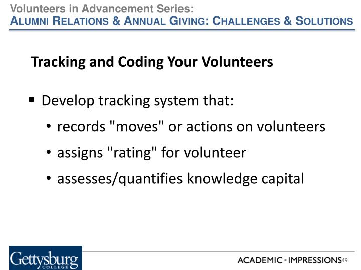 Tracking and Coding Your Volunteers