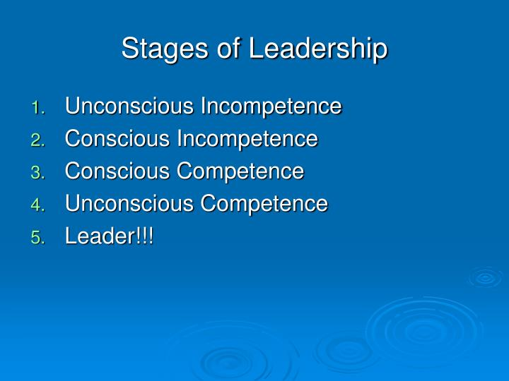 Stages of Leadership