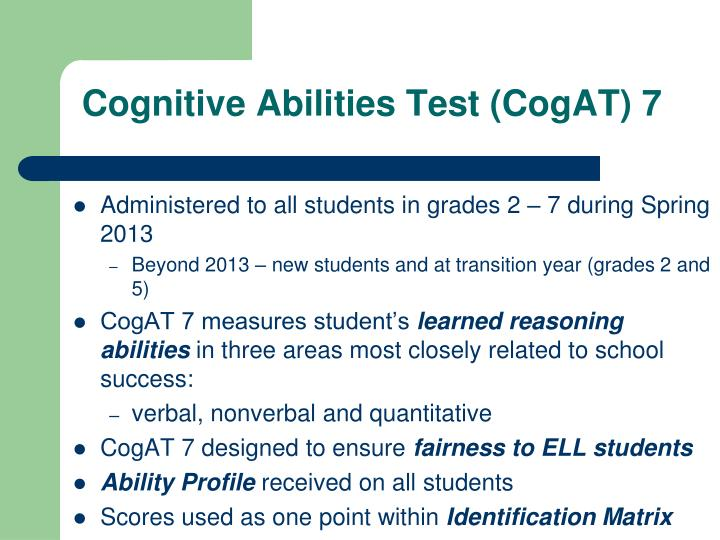 Cognitive Abilities Test (CogAT) 7