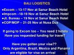 bali logistics