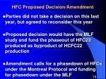 hfc proposed decision amendment